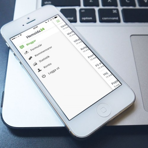 Hemsida24 för iPad och iOS7